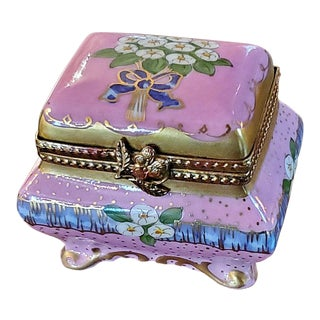 Vintage Limoges Sarcophagus Ring Box For Sale