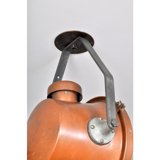 Bag Turgi Copper Lantern, Switzerland 1940s For Sale - Image 9 of 13