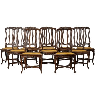 Set of 10 Louis XV Style Dining Chairs