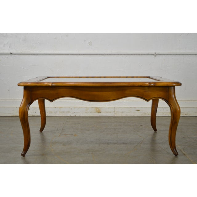 Beautiful Ethan Allen Square Glass Top Coffee Table – $250