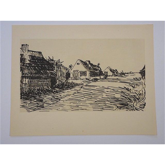 Impressionist Vintage Van Gough Screenprint For Sale - Image 3 of 3