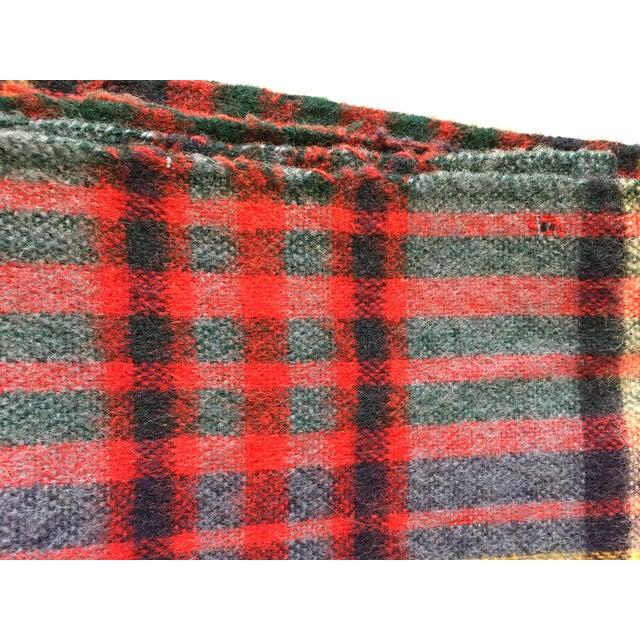Vintage English Plaid Wool Blanket - Image 6 of 7