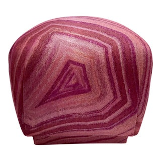 1980s Vintage Pink Coral Mineral Soufflé Pouf For Sale
