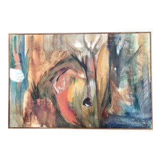 1958 Signed Abstract on Canvas
