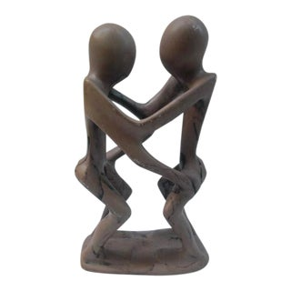 Late 20th Century Couple Dancing Abstract Stone Sculpture For Sale