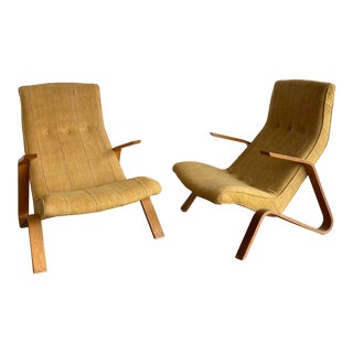 Vintage Knoll Grasshopper Chairs- A Pair For Sale