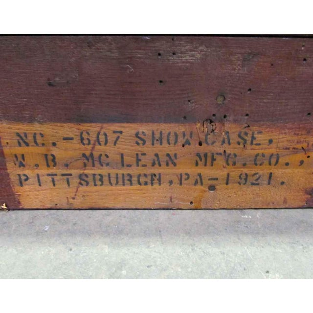 MC Lean Mfg. Co. Display Case c. 1921 For Sale - Image 6 of 8