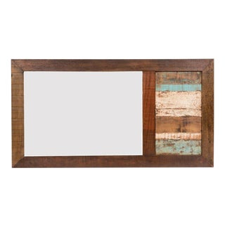 Reclaimed Wood Wall Mirror For Sale