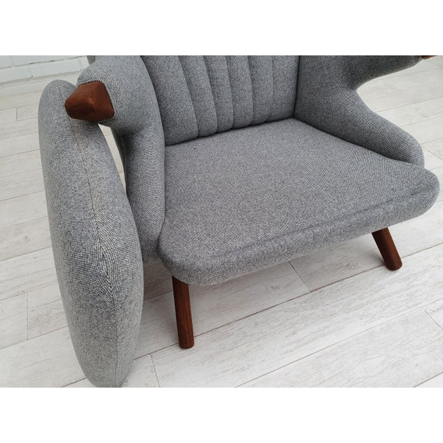 "1970s Danish Design, ""Teddy Bear"" Chair by Svend Skipper, Completely Reupholstered For Sale - Image 11 of 13"