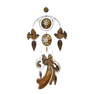 Fantastic Brass, Copper and Enamel Mobile by Cesar Vasquez For Sale