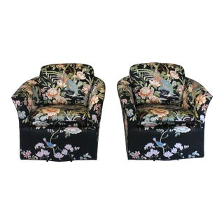 Swivel Club Chairs by Century For Sale