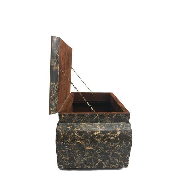 Antique Marble Hollywood Regency Mini Trunk - Image 6 of 9