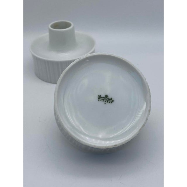 Tapio Wirkkala for Rosenthal Porcelain Candle Holders For Sale In San Diego - Image 6 of 7