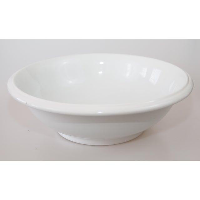 English Large Antique English White Ironstone Bowl For Sale - Image 3 of 7