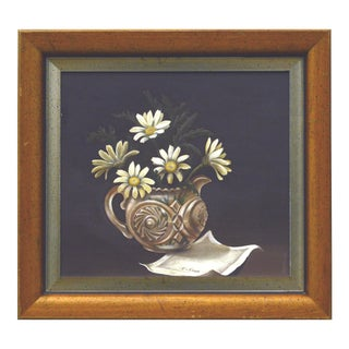 Still Life with Daisies and Cut Crystal Vase