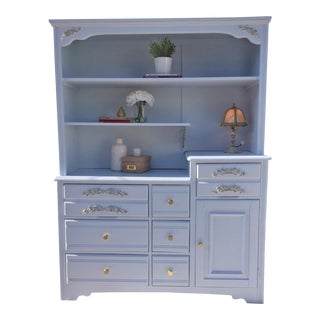 Refinished Blue Dresser Shelf For Sale