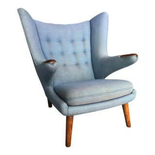 1956 Mid Century Danish Modern Hans Wegner Papa Bear Chair For Sale