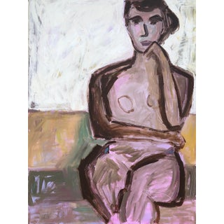 Waiting Anne Darby Parker Contemporary Painting For Sale