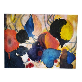 Abstract Floral Modern Painting For Sale