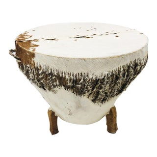Vintage African Drum Table For Sale