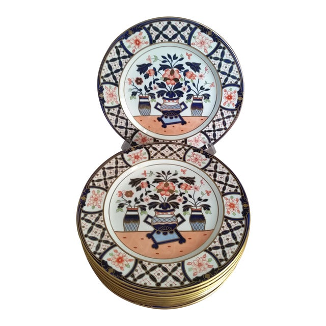 1936 Royal Crown Derby for Tiffany Imari Luncheon Plates - Set of 10 For Sale