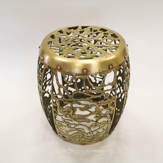 Asian Brass Chinosiere Garden Stool - Image 4 of 9