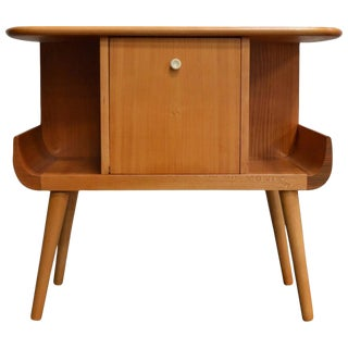 Swedish Mid-Century Golden Elm Side Table For Sale