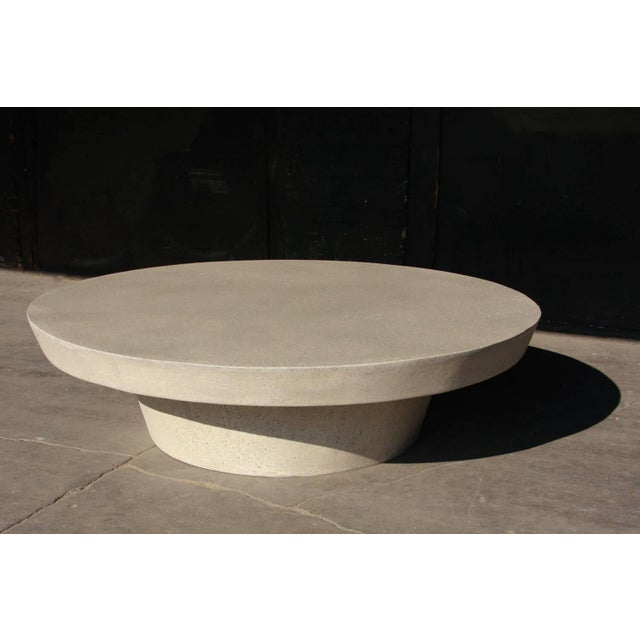 Contemporary Cast Resin 'Cashi' Cocktail Table, White Stone Finish by Zachary A. Design For Sale - Image 3 of 6