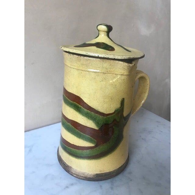 19th Century Lidded Jaspe Pitcher For Sale - Image 9 of 12