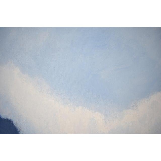 Modern Blue Bloom Painting - 3040 - Image 4 of 5