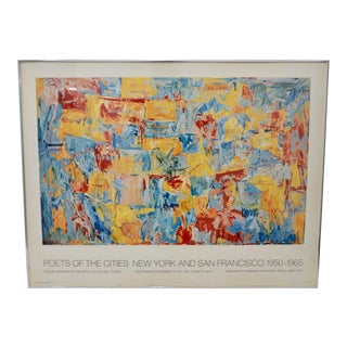 """Jasper Johns """"Poets of the Cities: New York and San Francisco"""" Exhibition Poster c.1974 For Sale"""
