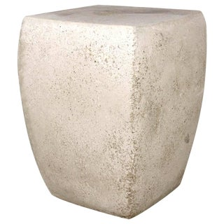 Cast Resin 'Van Dyke' Stool & Side Table, Aged Stone Finish by Zachary A. Design For Sale