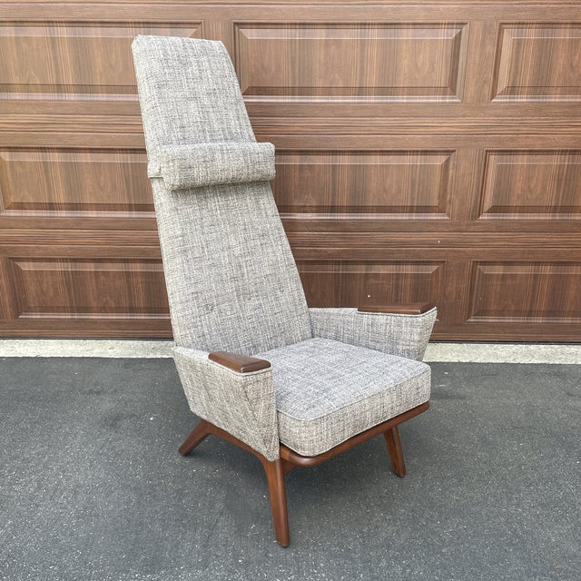 Mid 20th Century Lounge Chair Attributed to Adrian Pearsall For Sale In Philadelphia - Image 6 of 6