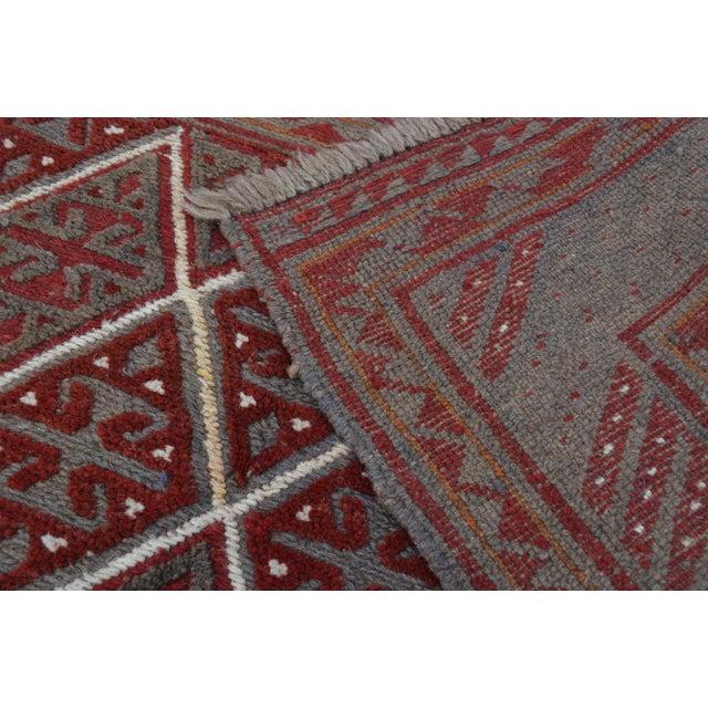 "Vintage Tribal Turkish Kilim Rug - 3'9"" x 4' For Sale - Image 4 of 5"