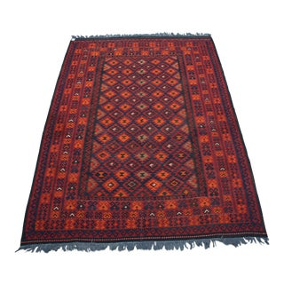 Contemporary Afghan Tribal Kilim Rug - 7′ × 9′10″ For Sale