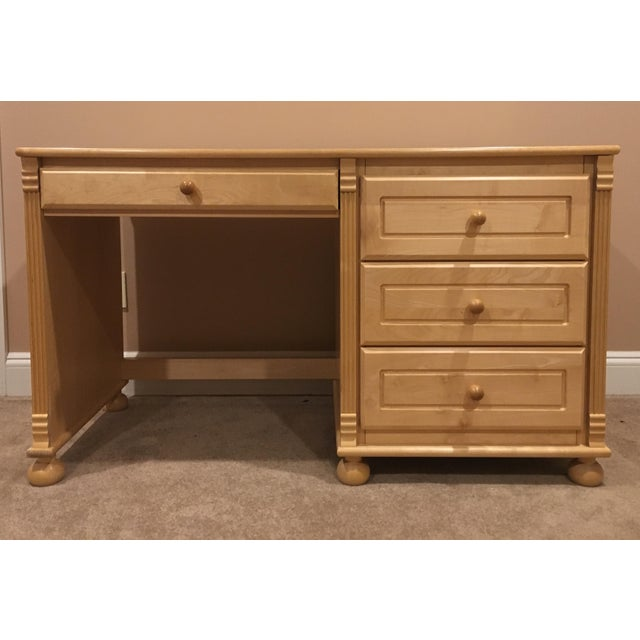 Maple Wood & Birch Desk - Image 2 of 5