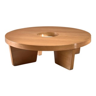Harvey Probber Nuclear Coffee Table in Blonde Mahogany For Sale