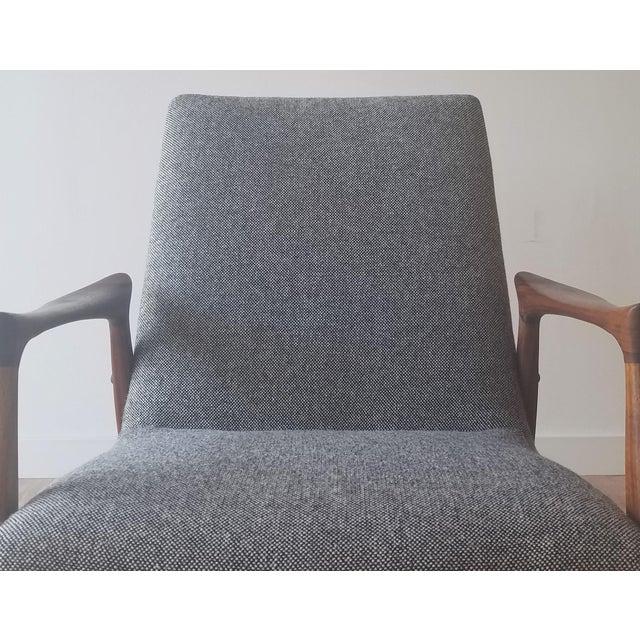 1950s Arne Hovmand-Olsen Lounge Chair (Model 240) for Mogens Kold Møbelfabrik - Newly Upholstered For Sale - Image 11 of 13