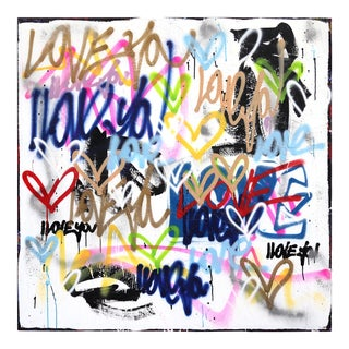 """Voluptuous"" Large Graffiti Inspired Original Artwork by Amber Goldhammer For Sale"