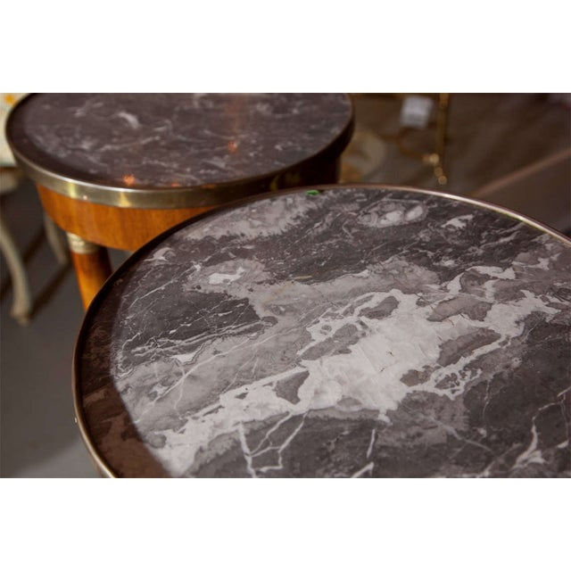 19th Century Marble Top Pedestals - Pair - Image 7 of 8
