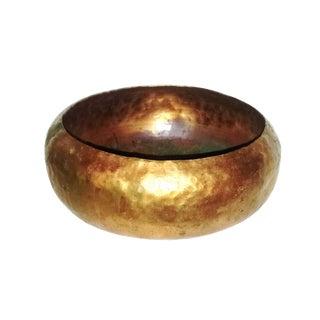 Vintage Hammered Copper Bowl For Sale