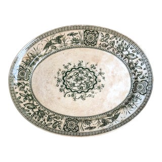Ironstone Platter Transferware Aesthetic Movement Davenport Iolanthe 1884 For Sale