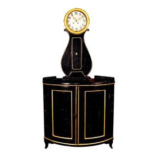 Dutch Corner Clock Cabinet For Sale