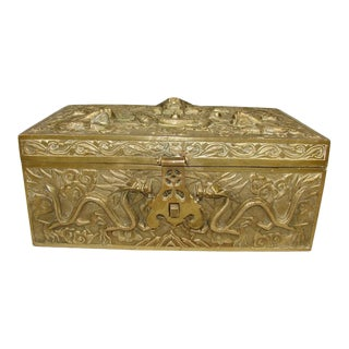 Antique Chinese Bronze Box For Sale