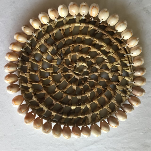 Boho Beach House Seashell Trivets - Set of 4 For Sale - Image 5 of 8