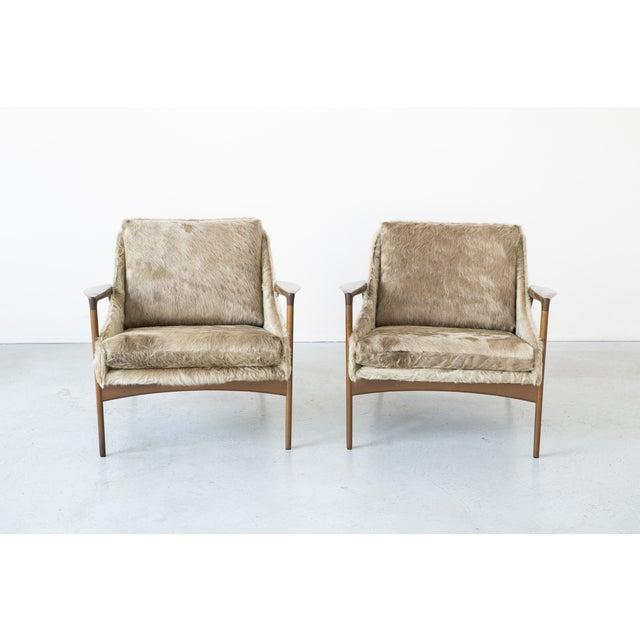 Ib Kofod-Larsen Lounge Chairs - A Pair - Image 3 of 11