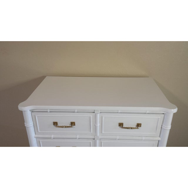 Henry Link Hollywood Regency Faux Bamboo Chest For Sale - Image 6 of 7