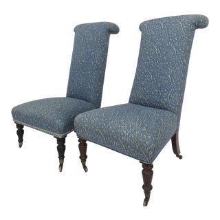 Prie Dieu Style Chairs- a Pair For Sale