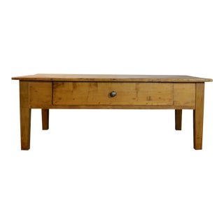 19th Century French Pine Coffee Table For Sale