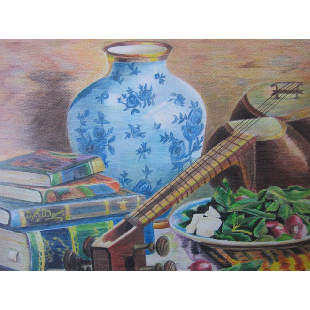 Eastern Culture Realism Colored Pencil Painting - Image 3 of 11
